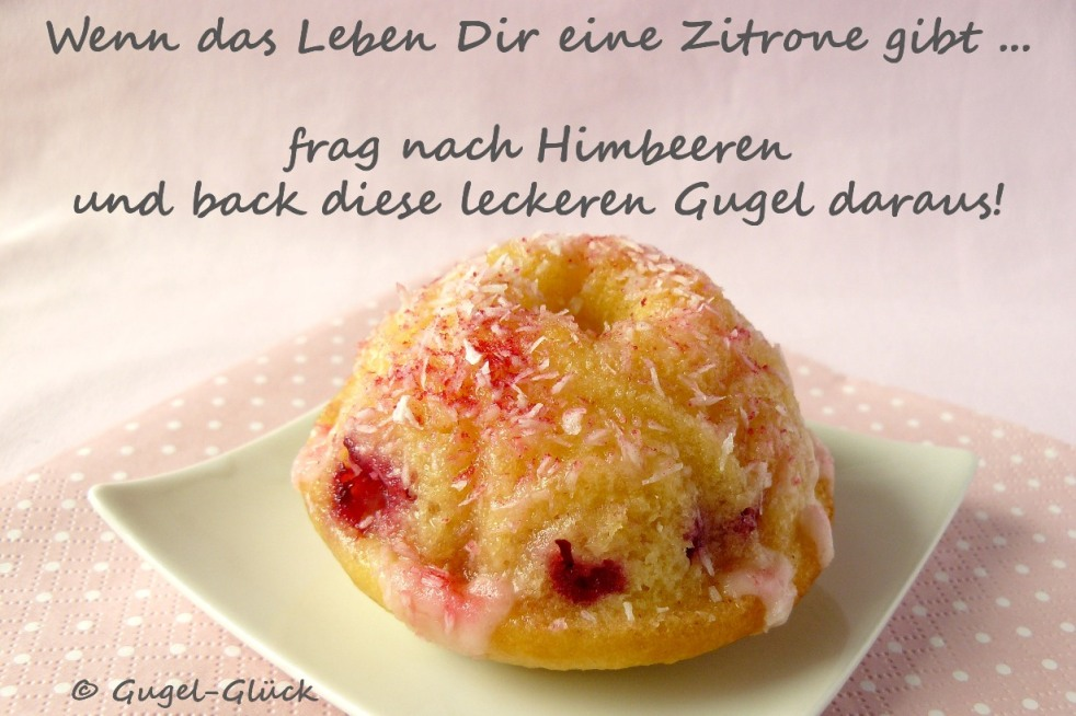 Himbeer-Zitronen-Gugelhupfe mit Kokosflocken