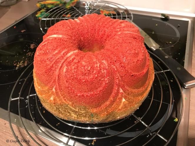 Regenbogenkuchen ganz einfach mit Meerjungfrau