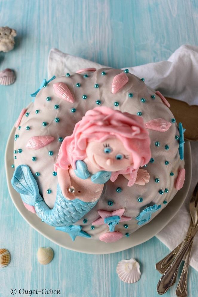 Regenbogenkuchen mit Meerjungfrau 09 Ss