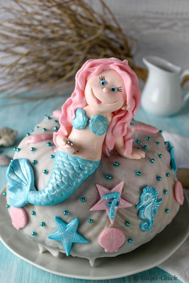 Regenbogenkuchen mit Meerjungfrau 12 Ss