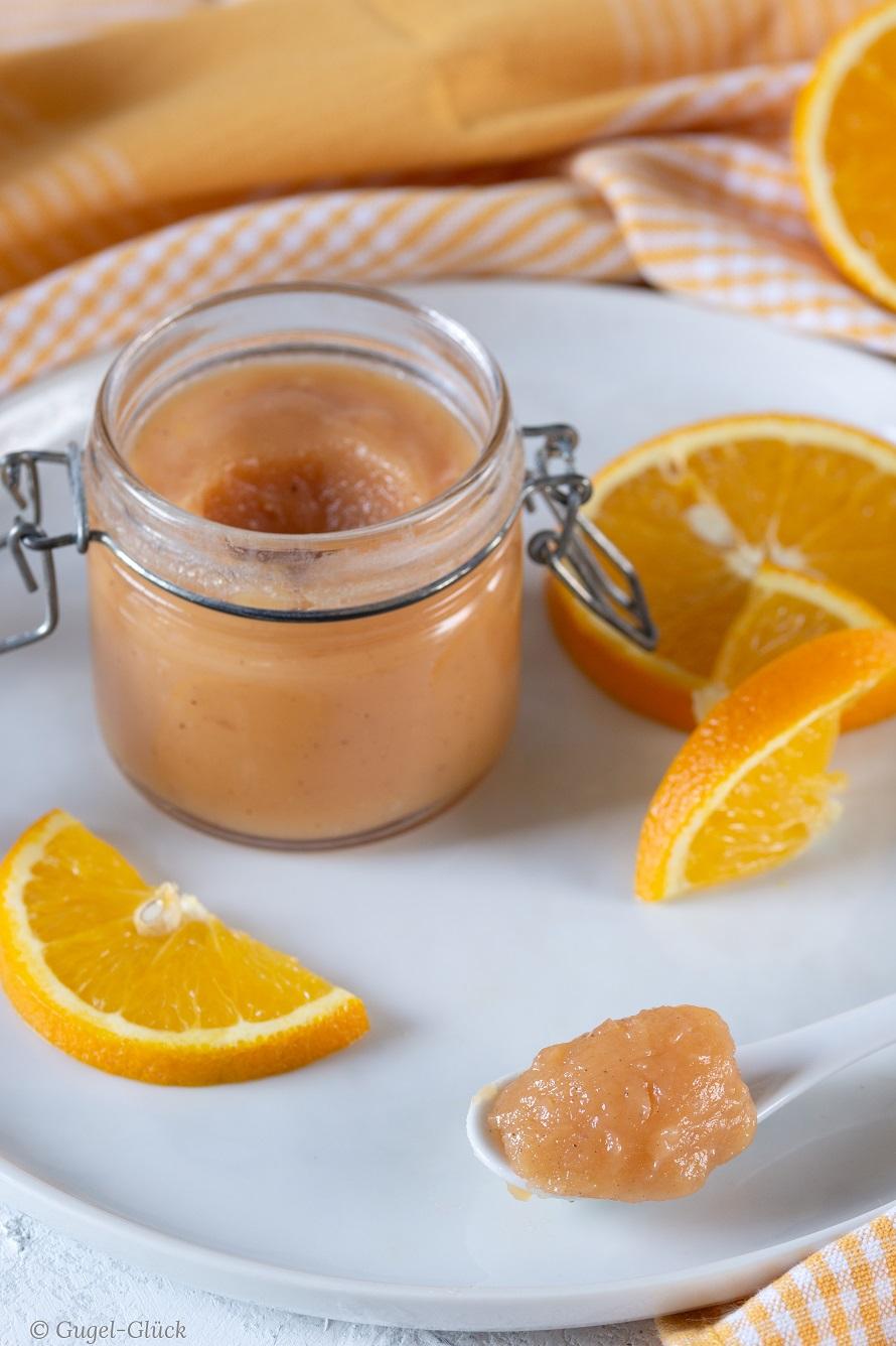 vegetarisches Orange Curd ohne Ei - Rezept auf: https://gugelglueck.com/